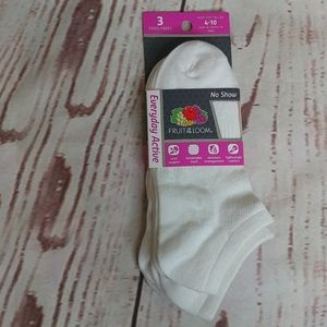 Fruit of the Loom No Show Socks - 3 count